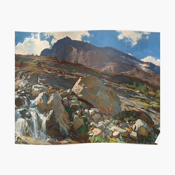 Simplon Pass Oil Painting by  John Singer Sargent Poster