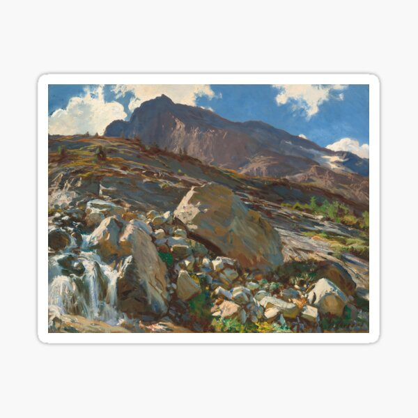 Simplon Pass Oil Painting by  John Singer Sargent Sticker