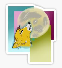 Howling Tired College Wolf Sticker