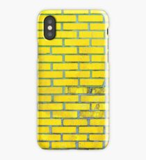 Yellow bricks iPhone Case