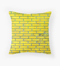 Yellow bricks Throw Pillow