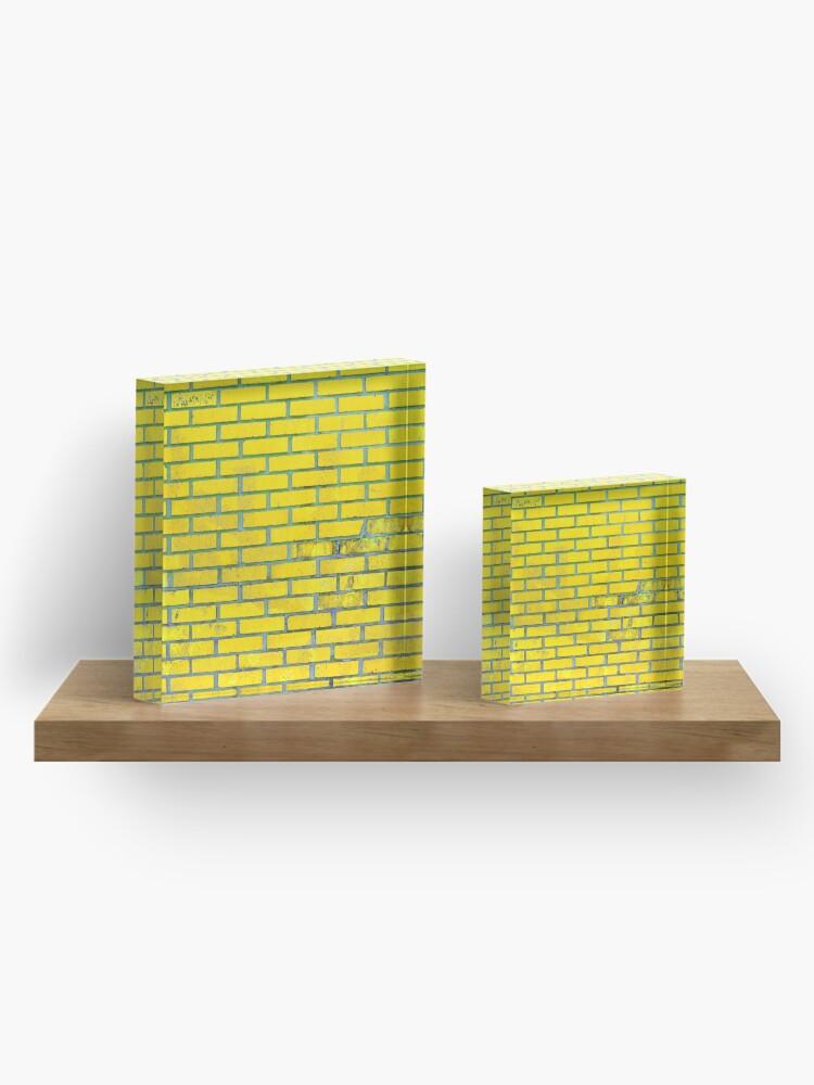 Alternate view of Yellow bricks Acrylic Block