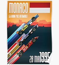 F1 Classics - Monaco 1995 Poster