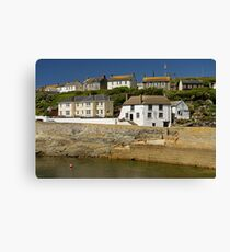 Harbourside Buildings, Porthleven Canvas Print