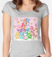 Care Bear, Care Bear Cousins, Retro 80s Cartoon Cute Women's Fitted Scoop T-Shirt