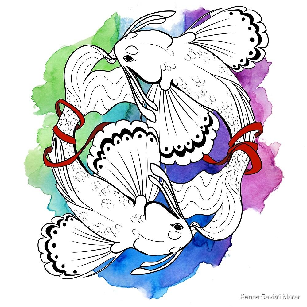 Pisces Fish Yin Yang by Kenna Marar