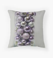Purple Baubles Throw Pillow