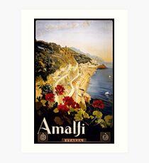 Amalfi Italia Vintage Travel Poster Art Print
