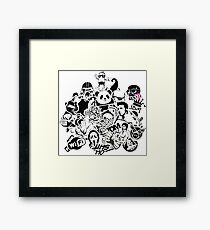 t-shirt funny Various characters Framed Print