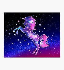 Cosmic Unicorn, Galaxy Style, Space, Universe, Space Photographic Print