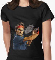 Camiseta entallada para mujer Roger Federer en acción