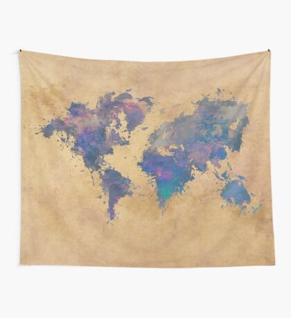 world map 92  #worldmap #map #world  Wall Tapestry