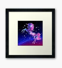 Unicorn, Galaxy Style, Space, Universe, Space Framed Print