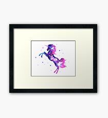 Cosmic Unicorn, Galaxy Style, Space, Universe, Space Framed Print