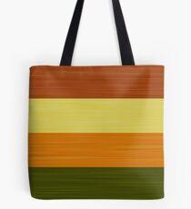 Brush Stroke Stripes: Fall Foliage Tote Bag