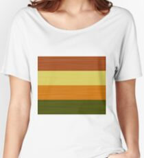 Brush Stroke Stripes: Fall Foliage Women's Relaxed Fit T-Shirt