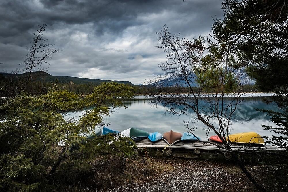 Resting Canoes by PhotosbySylvia