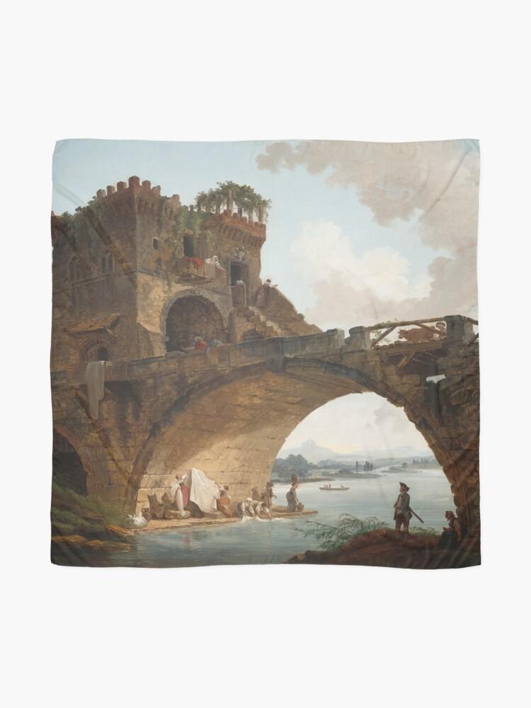 Alternate view of  The Ponte Salario Oil painting by Hubert Robert Scarf