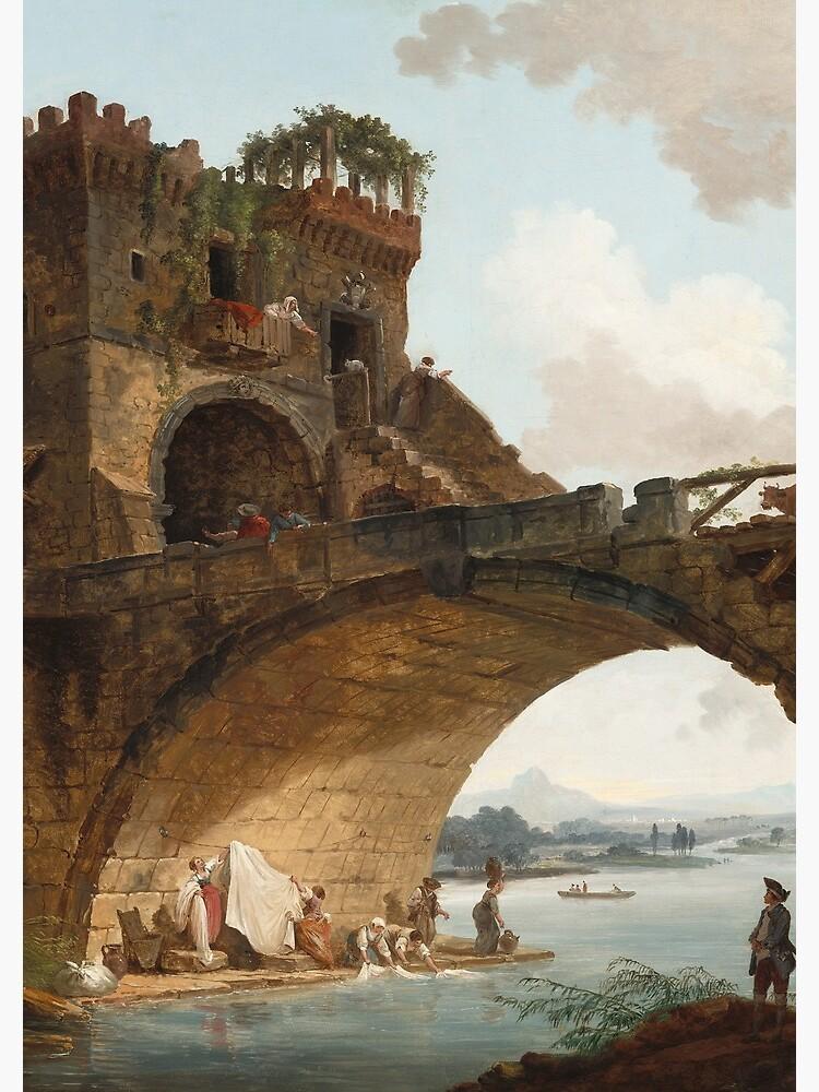 The Ponte Salario Oil painting by Hubert Robert by podartist