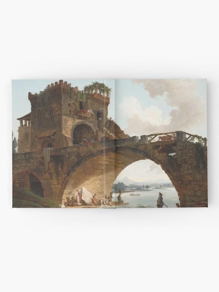 Alternate view of  The Ponte Salario Oil painting by Hubert Robert Hardcover Journal