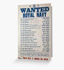 Wanted Royal Navy 821 Grußkarte