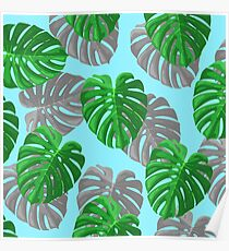 Tropical Mix ( blue ) Poster