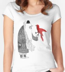 Darwin and red bird Women's Fitted Scoop T-Shirt