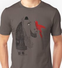 Darwin and red bird Unisex T-Shirt