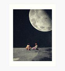 Ich gab dir den Mond für ein Lächeln Kunstdruck