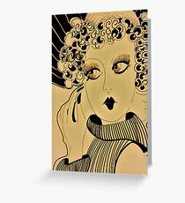 deco dolly,,,,,, House of Harlequin Greeting Card