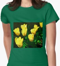 Yellow tulips our garden Womens Fitted T-Shirt