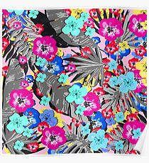 Tropical Flower Mix Poster