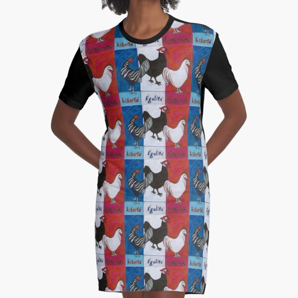 Three French Hens Graphic T-Shirt Dress