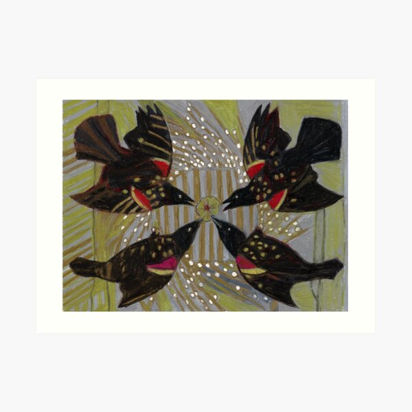 Four Calling Birds Art Print