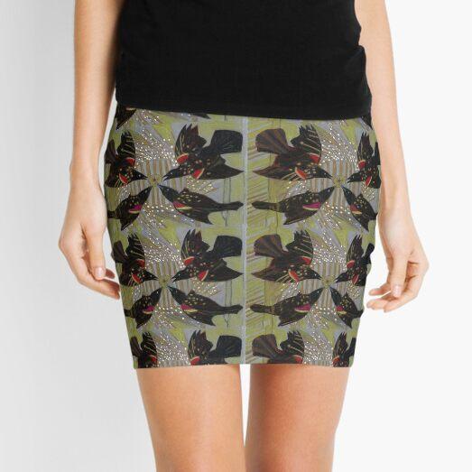 Four Calling Birds Mini Skirt