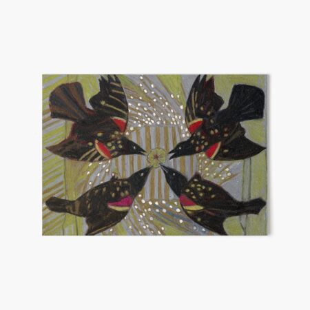 Four Calling Birds Art Board Print