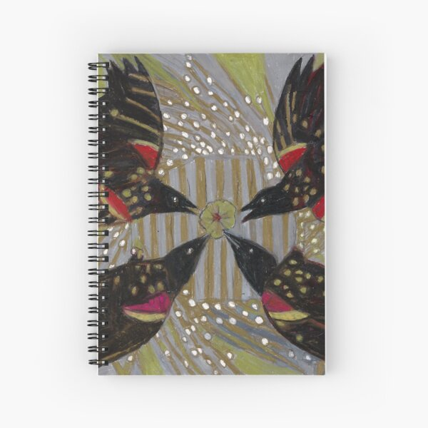 Four Calling Birds Spiral Notebook