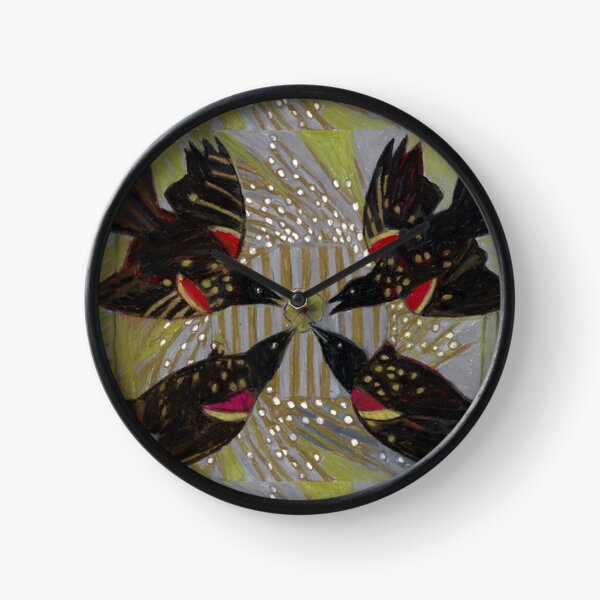 Four Calling Birds Clock