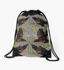 Four Calling Birds Drawstring Bag