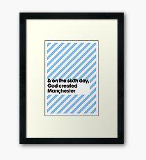 Manchester Blue Framed Print