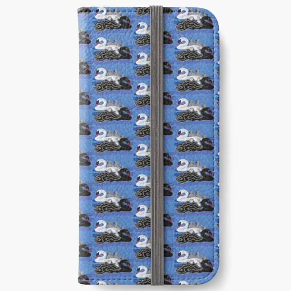 Seven Swans Swimming iPhone Wallet