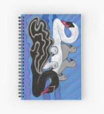 Seven Swans Swimming Spiral Notebook