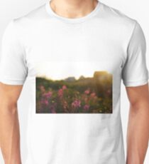 Flower in the sunset Unisex T-Shirt