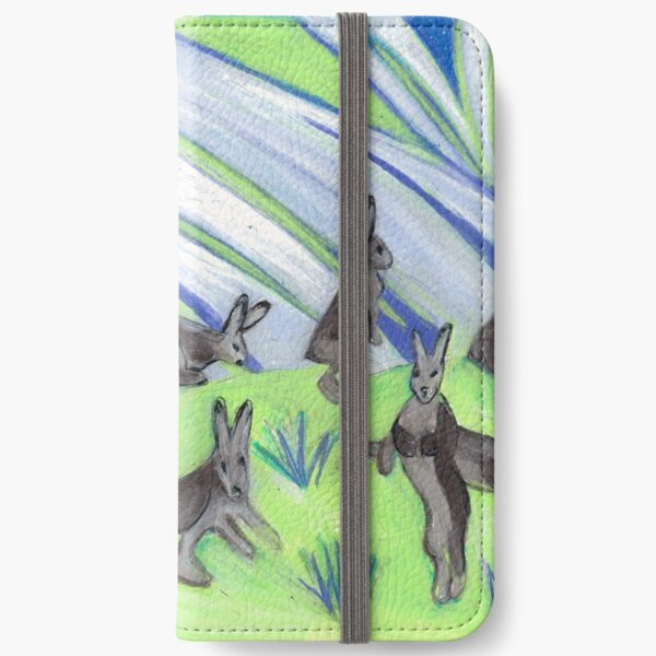 Ten Leaping Hares iPhone Wallet