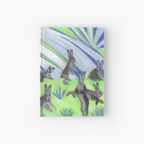 Ten Leaping Hares Hardcover Journal