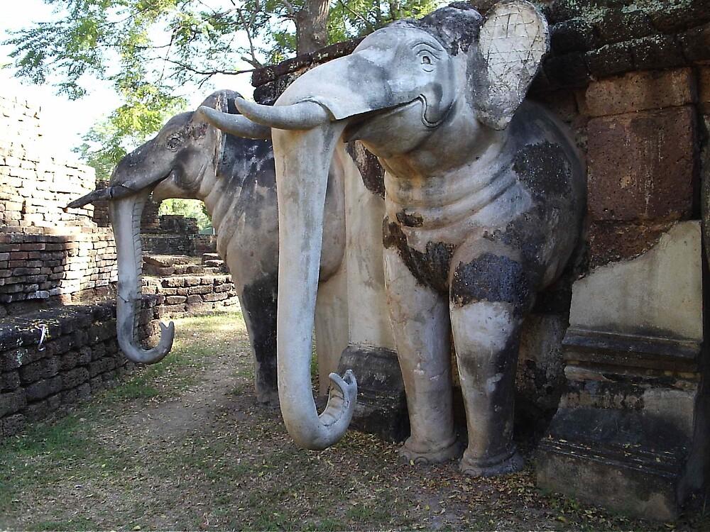 Stone Elephants by LeeLeon