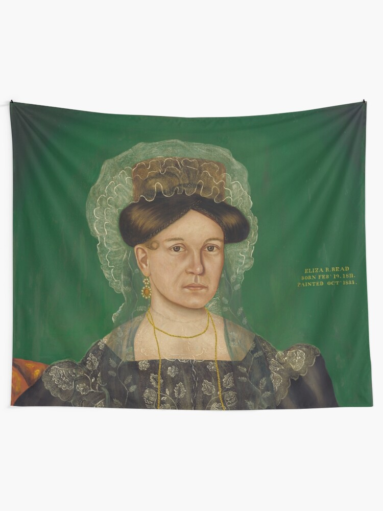 Alternate view of Eliza R. Read Oil Painting by Royall Brewster Smith Tapestry