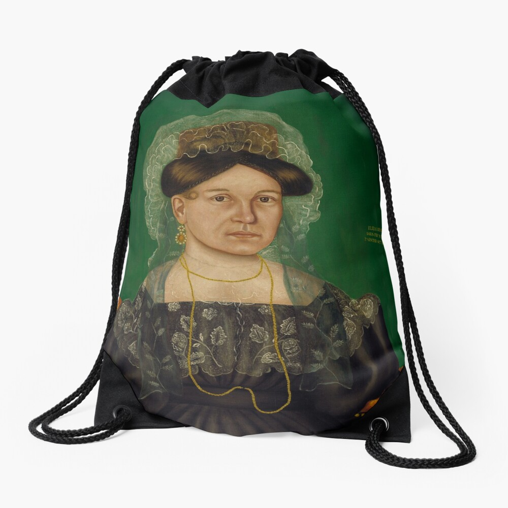 Eliza R. Read Oil Painting by Royall Brewster Smith Drawstring Bag