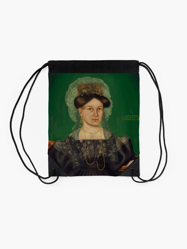 Alternate view of Eliza R. Read Oil Painting by Royall Brewster Smith Drawstring Bag
