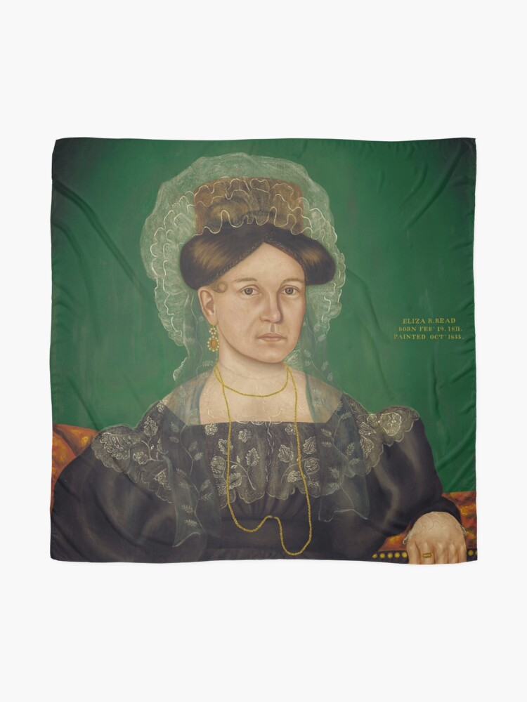 Alternate view of Eliza R. Read Oil Painting by Royall Brewster Smith Scarf